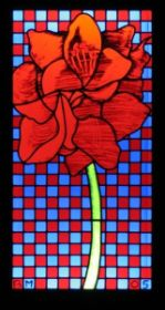 Amaryllis, 2005 stained glass 123 x 62 cm private collection.jpg
