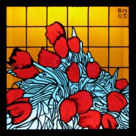 Tulips, 2005 stained glass 98 x 98 cm private collection.jpg